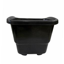 Vaso de Plástico Preto Pequeno 18 cm