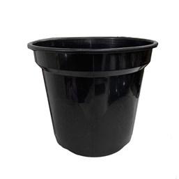 Vaso de Plástico Redondo Preto 24 cm