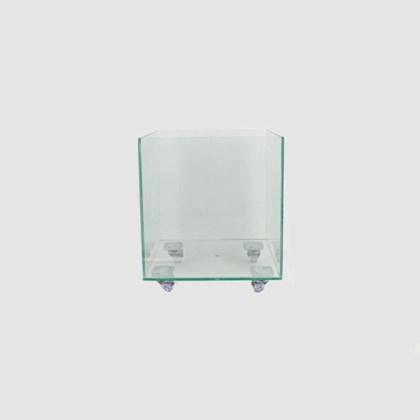 Vaso De Vidro Quadrado 25cm x 25cm x 25cm