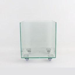 Vaso De Vidro Quadrado 35cm x 35cm x 35cm