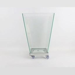 Vaso De Vidro Trapézio 35cm x 25cm