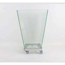 Vaso De Vidro Trapézio 40cm x 28cm