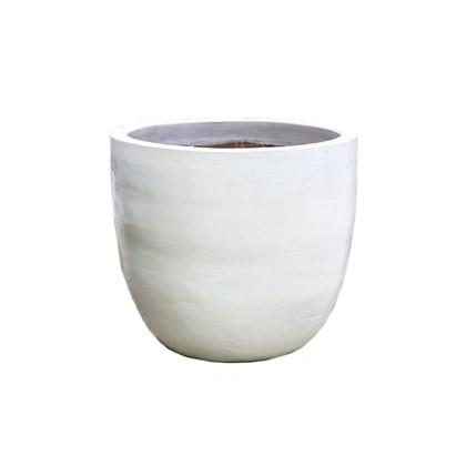 Vaso Vietnamita Ovo Branco Grande 46cm x 55cm